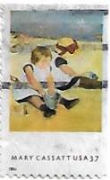 Selo Crianças brincando na praia