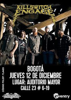 Concierto de KILLSWITCH ENGAGE en Bogotá