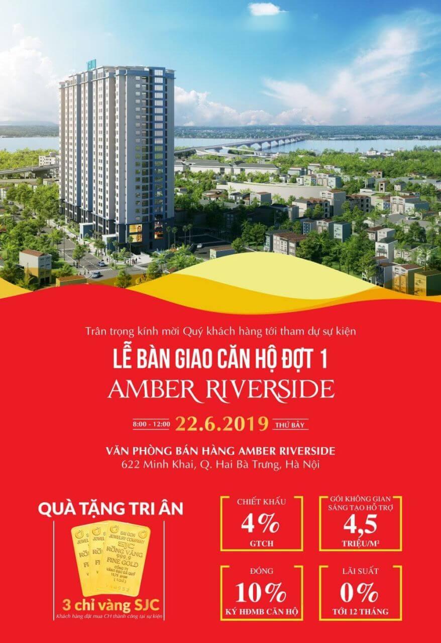 Thư mời sự kiện bàn giao căn hộ chung cư 622 Minh Khai