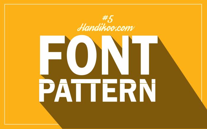 Belajar CorelDraw #5 - Desain Font dengan Pola Unik