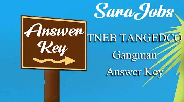TNEB TANGEDCO Gangman Answer Key