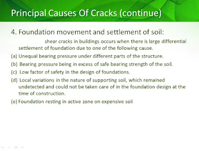 cracks due to foundation movement