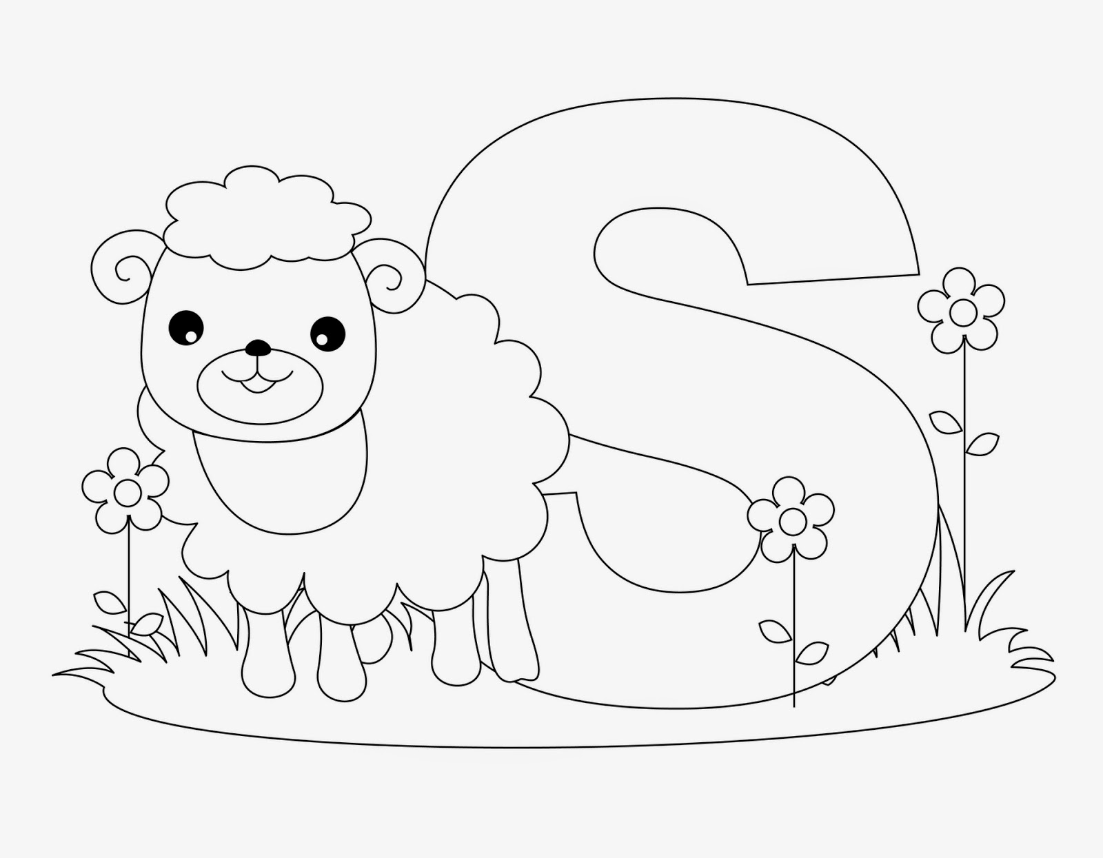 Kids Page S Is For Sheep