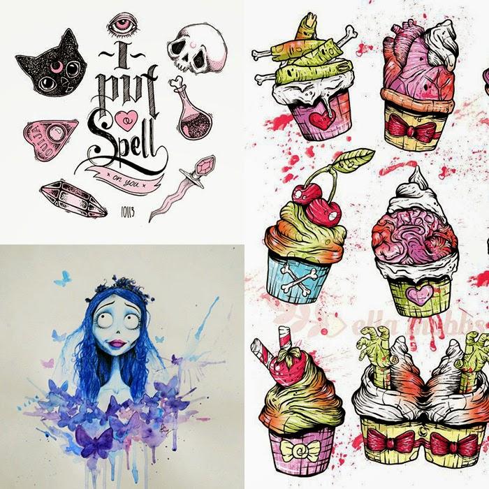 TATTOOS: Halloween Tattoos and Art   Illustrated Teacup