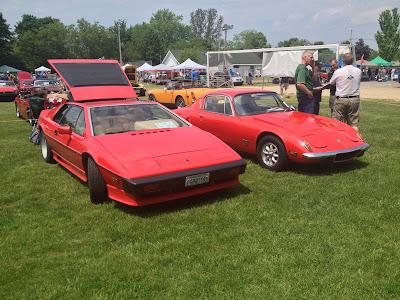 Red Lotus at British Car Show
