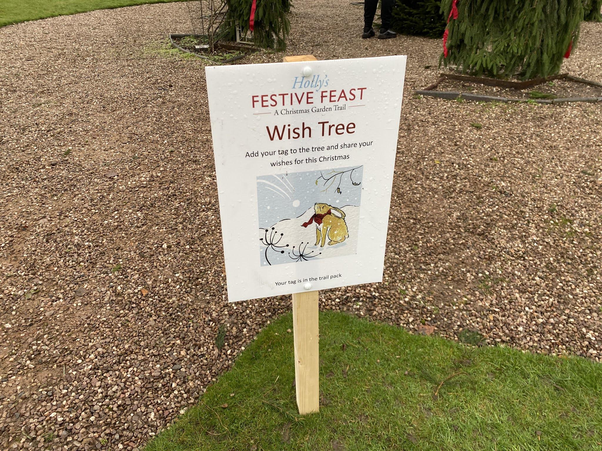 Holly's Festive Feast wish tree
