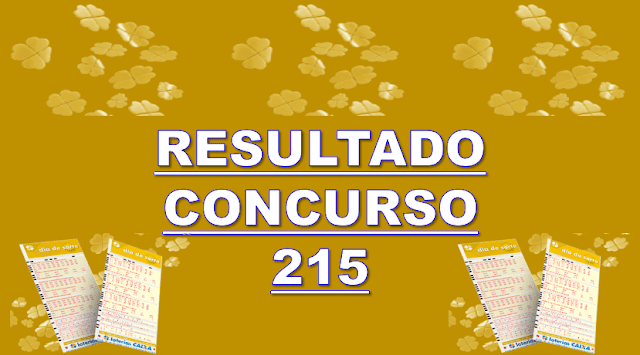 Sorteio 215 resultado dia de sorte os 7 números sorteados