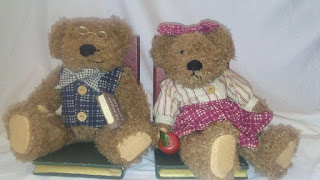 Image: Country Teddy Bear Bookends, Adorable Teddy Bear Bookends, Bear Bookends, Books Are Fun Bookends