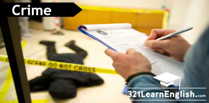 ESL vocabulary: crime (intermediate) (level: b1)
