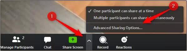 cara share screen di zoom meeting-5