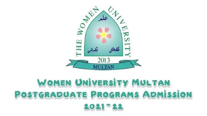 Women University Multan Postgraduate Programs Admission 2021-22
