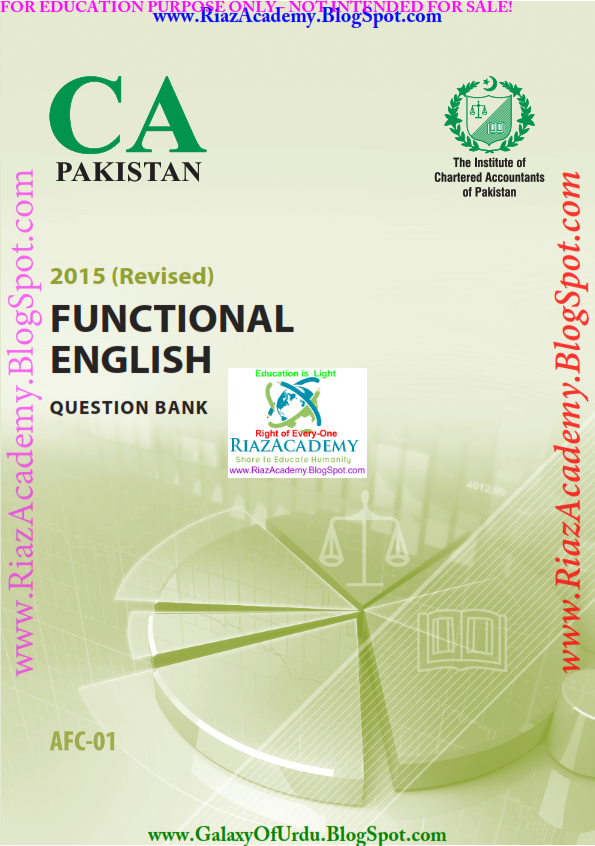 FUNCTIONAL ENGLISH - Question Bank Revised by ICAP