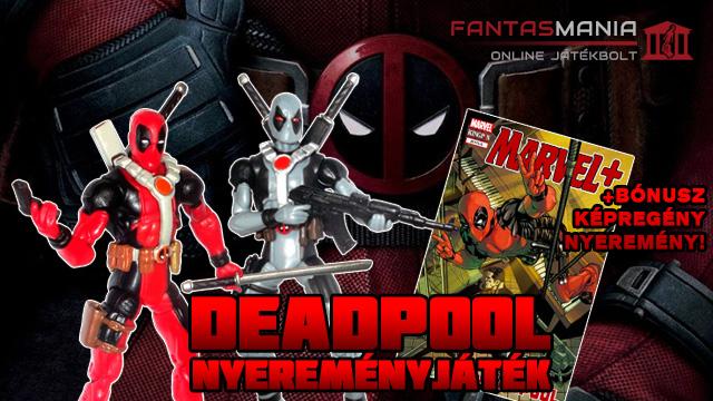 Deadpool figura és képregény nyereményjáték - by Fantasmania