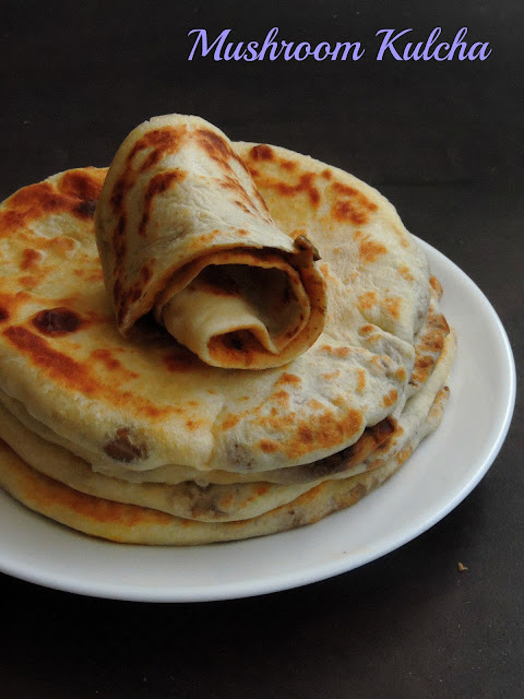 Mushroom masala stuffed Kulcha