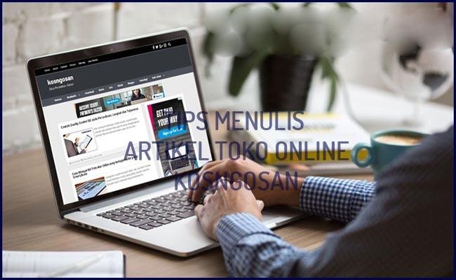 menulis toko online