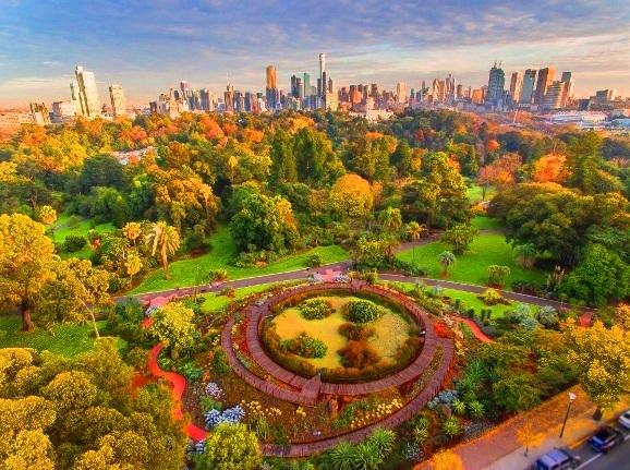 Royal botanic gardens Tempat menarik di melbourne australia