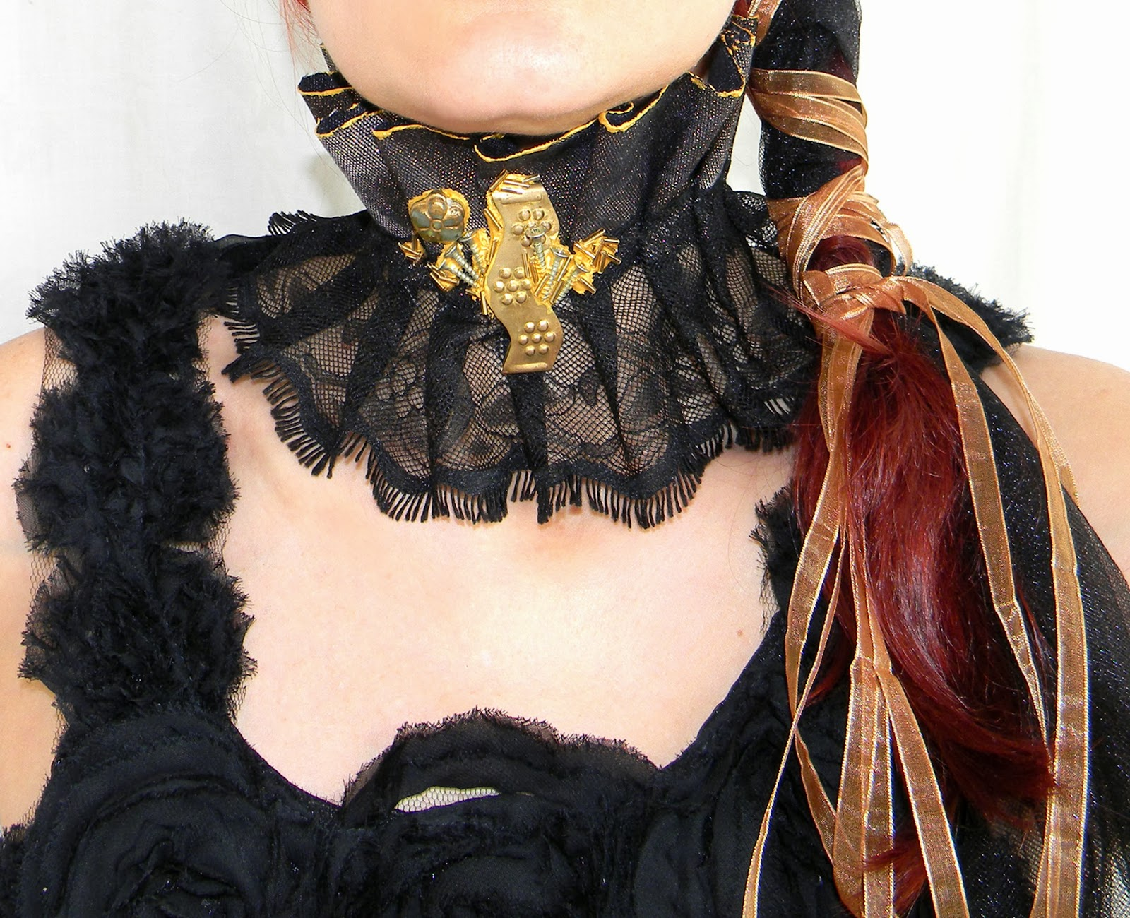 Steampunk Victorian Choker Necklace Fashion Sexy Neck Corset