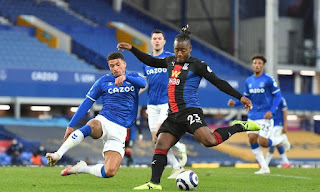 ملخص واهداف مباراة ايفرتون وكريستال بالاس (1-1) الدوري الانجليزي