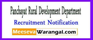 Panchayat Rural Development Department Madhya Pradesh Recruitment Notification 2017