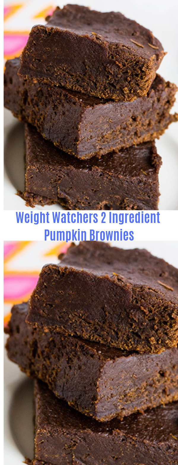 Weight Watchers 2 Ingredient Pumpkin Brownies