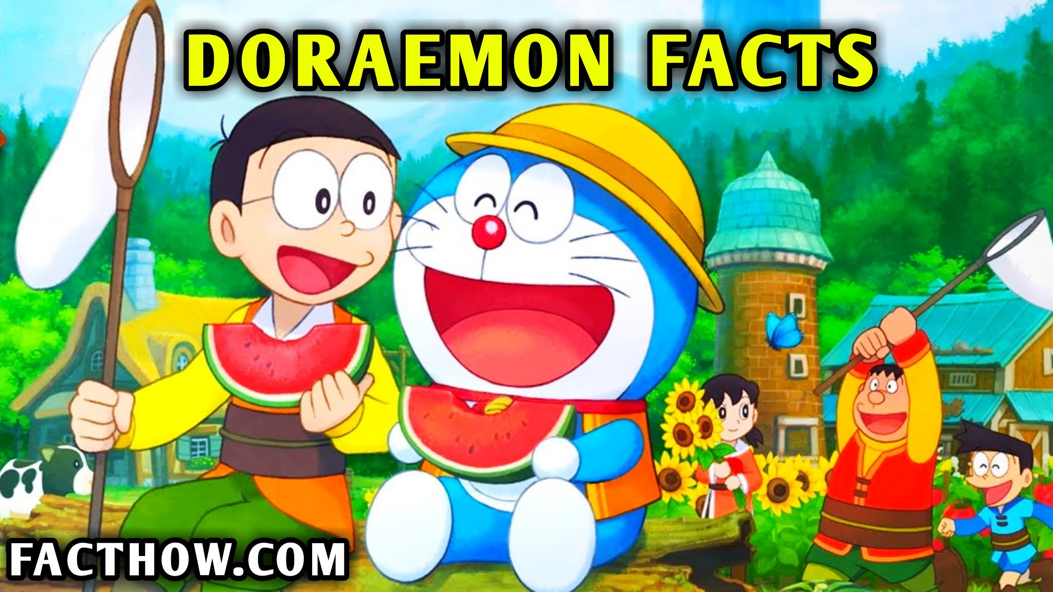 20-interesting-facts-about-doraemon-hindi-on-fact-how-facthow-tathya-cartoon-facts-hindi-amazing-facts, doraemon images, yellow doraemon, fact how, facthow, facthow.com,