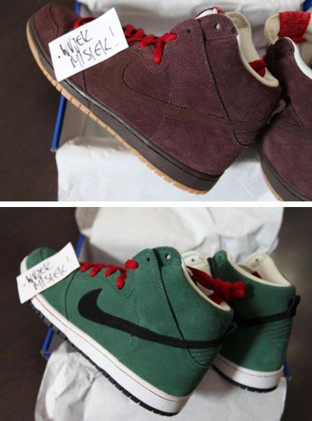 new product f1c83 22948 Here is new images via wujekmisiek of the upcoming Nike SB Dunk High Beer  Bottle Sneaker Pack inspired by Budweiser  Hienekin.