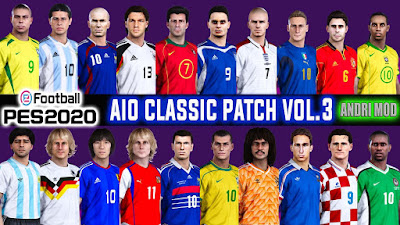 PES 2020 AIO CLASSIC PATCH VOL.3 Datapack 6.0 by AndriMod