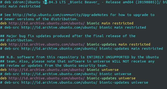 membuka data menggunakan vim linux
