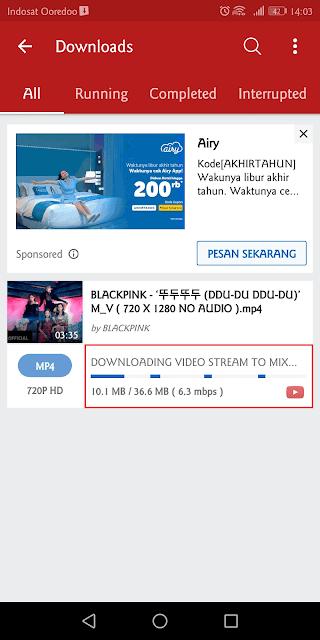 melihat status download video