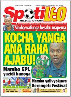 Habari kubwa za Magazeti ya Tanzania leo December 27, 2020
