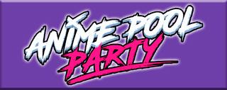Botón con el logotipo de la Anime Pool Party