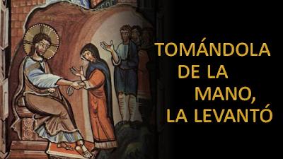 Evangelio según san Marcos (1, 29-39): Él se le acercó, y tomándola de la mano, la levantó