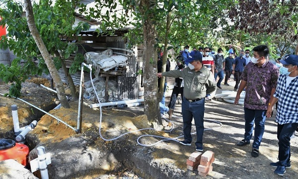 Sekdaprov Kepri Resmikan Pembangunan Sanitasi dan Air Bersih