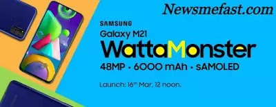 Samsung Galaxy M21 Warrior Launching on 16th March 2020