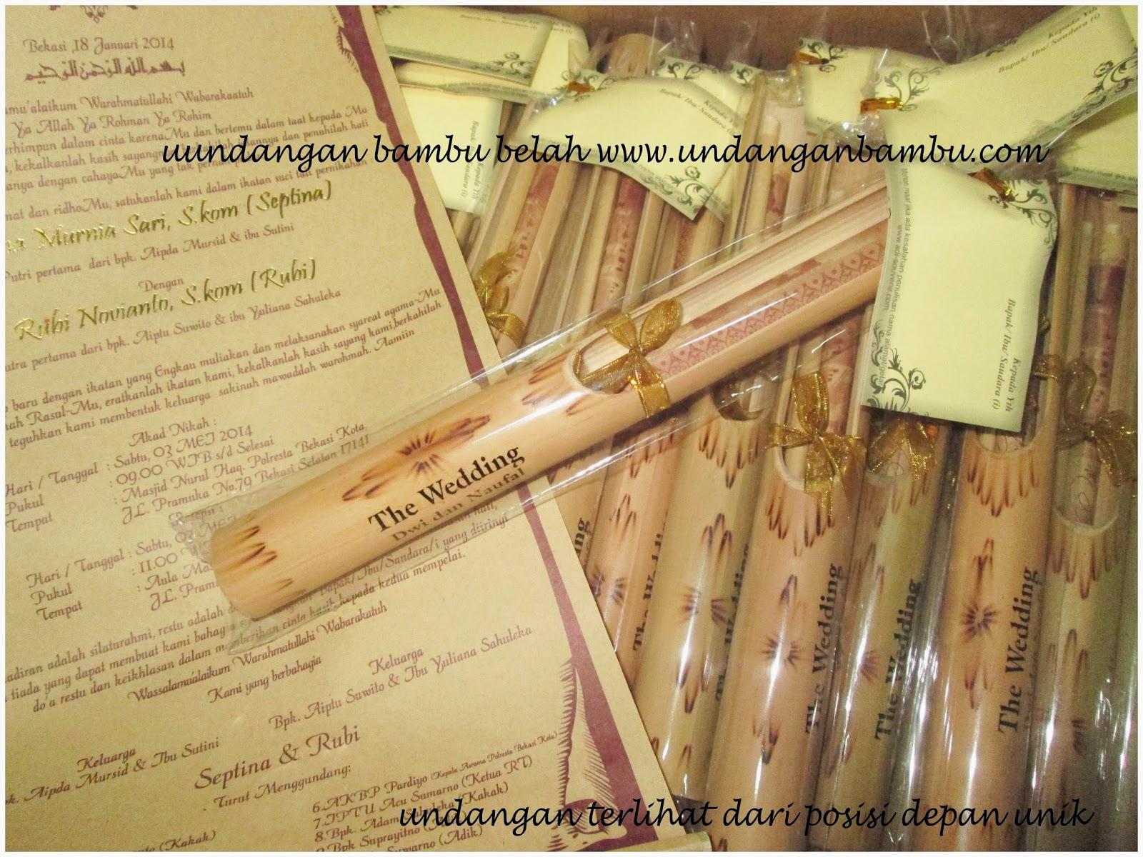 undangan bambu belah