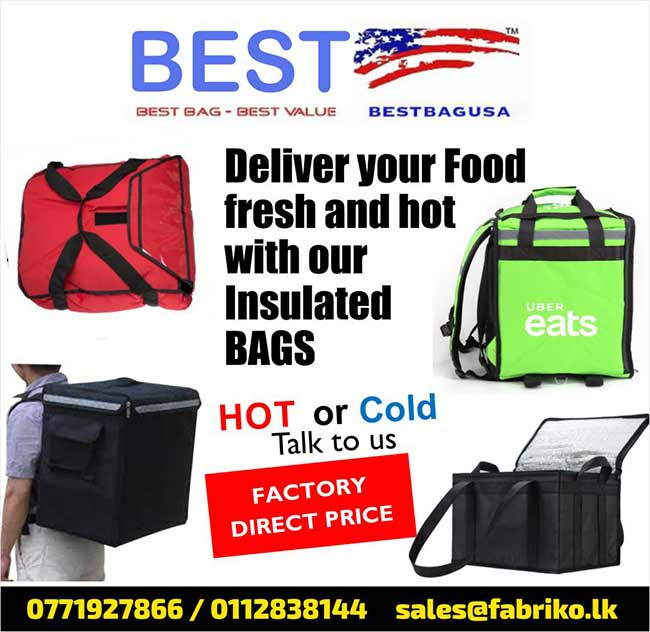 Deliver your food Fresh and Hot with our insulated BAGS
