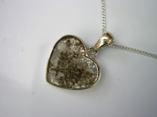 Sterling silver heart shaped pendant for ashes