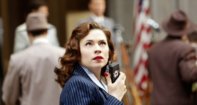 Hayley Atwell stars in Agent Carter in a world of men.