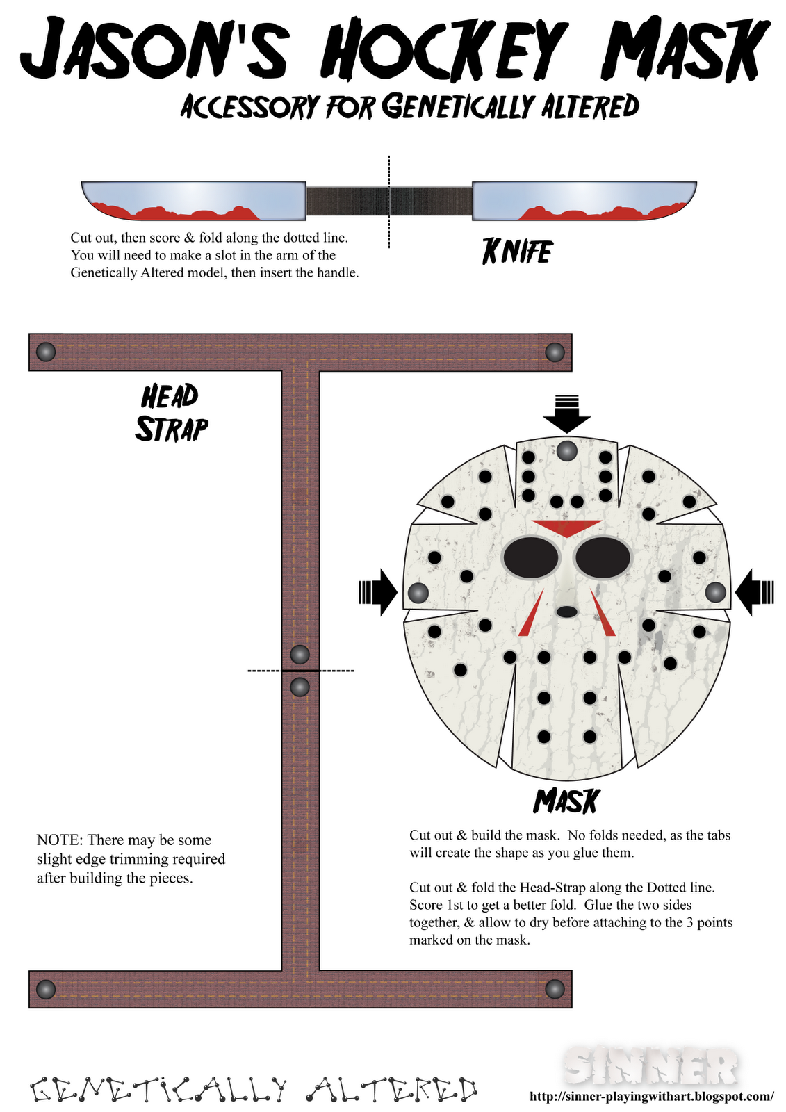 Sinner, Playing with Art: Friday the 13th - Jason Vorhees ...