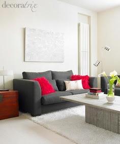 sofá cinza