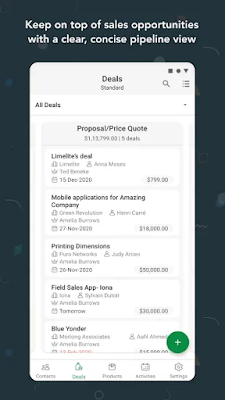 Screenshot Bigin by Zoho CRM - Apcoid