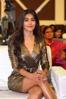 Pooja Hegde looks glamarous in deep neck sleevless short tight golden gown at Duvvada Jagannadham thank you meet function 118.JPG
