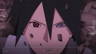 sasuke ternyata melihat momoshiki berbicara dengan boruto