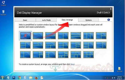 Dell Display Manager custom window layout program. Its also Dell monitor resolution, brightness, contrast changer application