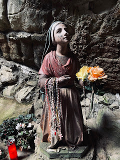 A statue in the grotto.