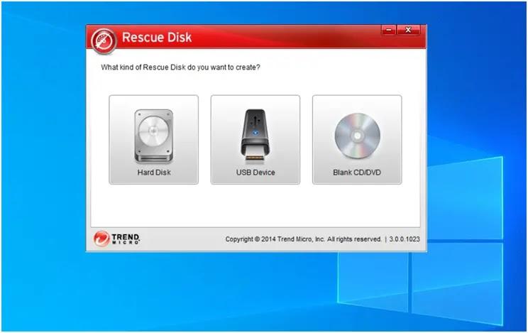 Trend Micro Rescue Disk :   Καθαρίστε τον υπολογιστή σας από επικίνδυνες και  δύσκολες στη διαγραφή  απειλές