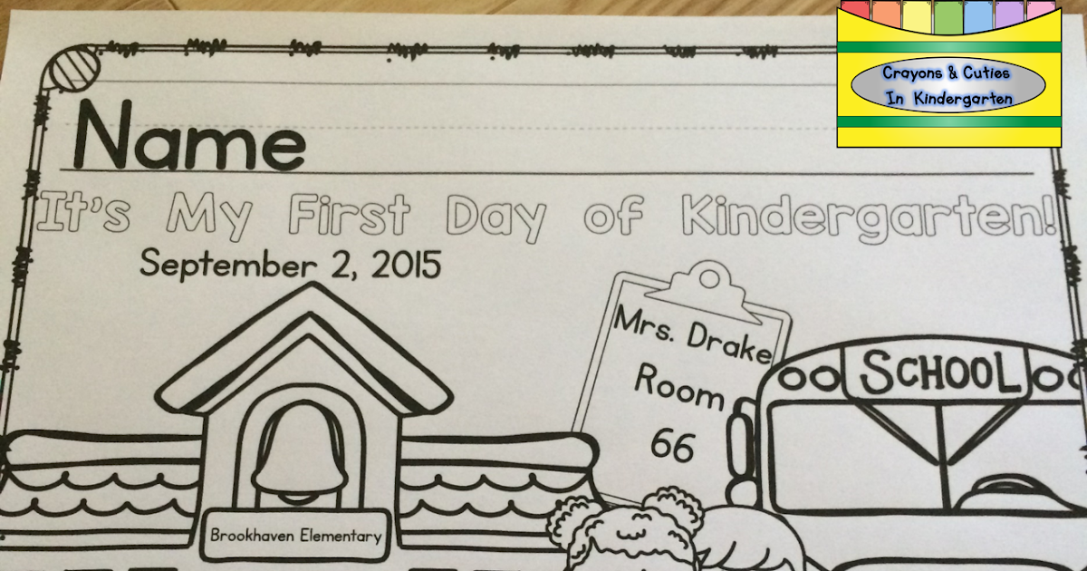 - Crayons & Cuties In Kindergarten: First Day Of School Coloring Page