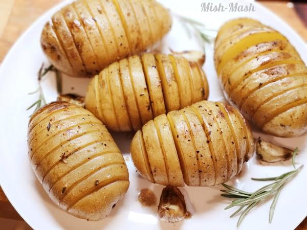 Чеснови картофи с розмарин