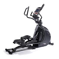 "New Sole E95S Elliptical Trainer 2016, with 30 lb flywheel, ECB magnetic resistance, Power Adjustable Stride, 15"" foot pedals with 2 degree inward slope, Power Incline,"