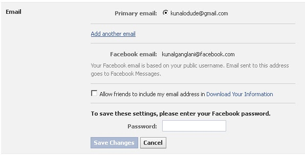 Add Email to Facebook Account